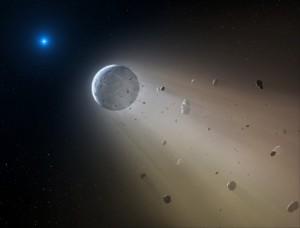 Un asteroide engullido por una enana blanca