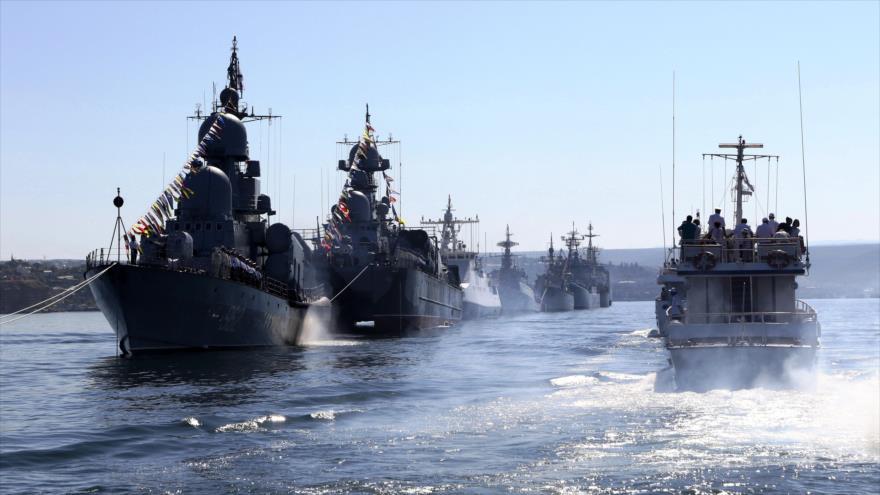 Buques de guerra de la Flota del Mar Negro de Rusia.