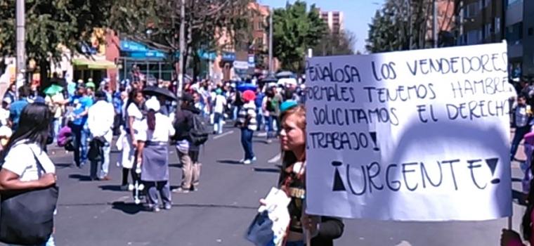 En dos meses los titulares apocalípticos de RCN sobre Bogotá desaparecieron y ahora todo es felicidad - vendedoresambulantes1feb