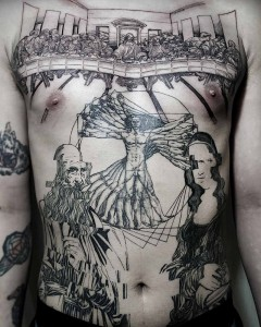OOZY tatúa magistralmente obras de arte muy famosas