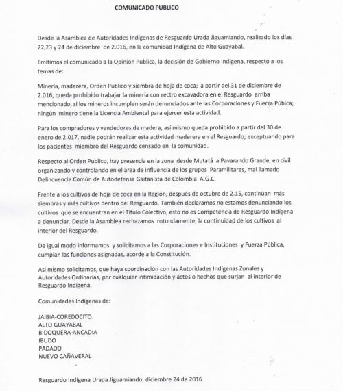 Resguardo Urada Jiguamiandó prohibe la extracción de madera y la minería con retroexcavadora - captura_de_pantalla_2017-01-05_a_la_s_17.17.52-b5614