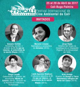 Programación 2do Festival Internacional de Cine Ambiental de Cali - FINCALI 2017 - placatodos_invitados-2-277x300