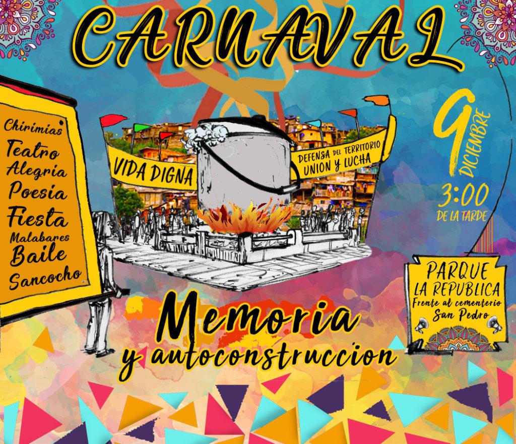 """""""Memoria y autoconstrucción de la vida digna en nuestro territorio"""" - afiche-carnaval-1024x881"""